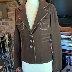 Vintage Bebe chocolate brown blazer
